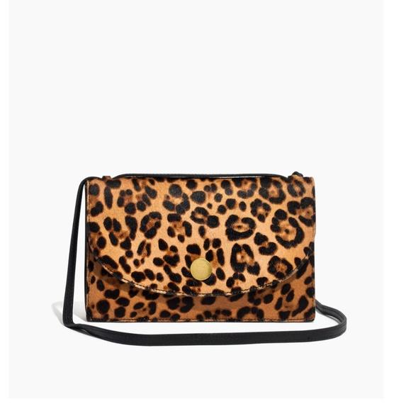 b5f1d982d016 Madewell Handbags - Madewell Slim Convertible Bag - Leopard Calf Hair